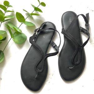 Torrid Keyhole Wide Fit T-Strap Sandals